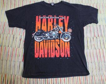 Vintage 1990's Harley Davidson Biker T-Shirt Nothing Sounds Like a Harley!, Size XL