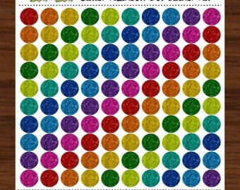 Glitter Dot Sticker Kit