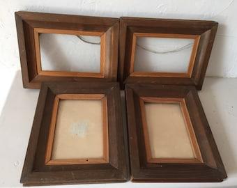 Set of 4 old wooden frames