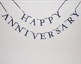Happy Anniversary Banner, Anniversary Banner, Anniversary Sign, Happy Anniversary Party Decoration