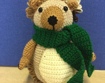 Hand crochet hedgehog