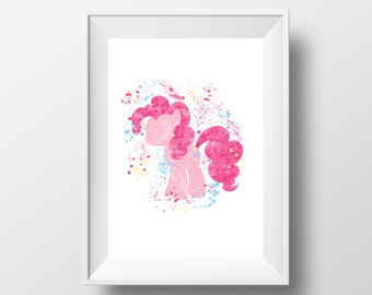 Pinkie Pie, My Little Pony, Pony, Horse, Nursery, Kids Room *Instant Download*