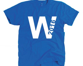 2016 Chicago Cubs Shirt - Fly the W 2016 -Chicago Flag Stars Tshirt