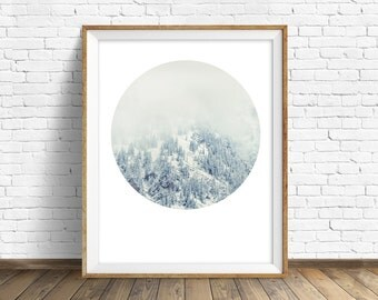 "landscape photography, instant download, printable art, instant download art, printable wall art, nature, gray, modern, art - ""White Forest"""