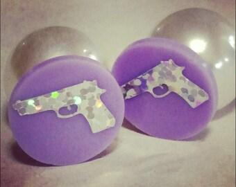 Pistol peekaboo earrings