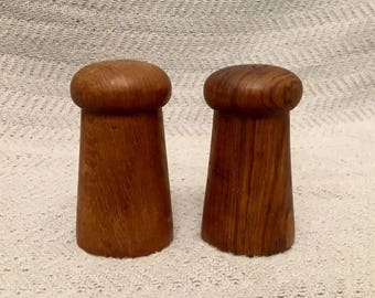 Vintage Retro Wooden Salt and Pepper Shakers