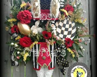 Easter Wreath - Tipsy Bunny Wreath - The Elliott's Wreath