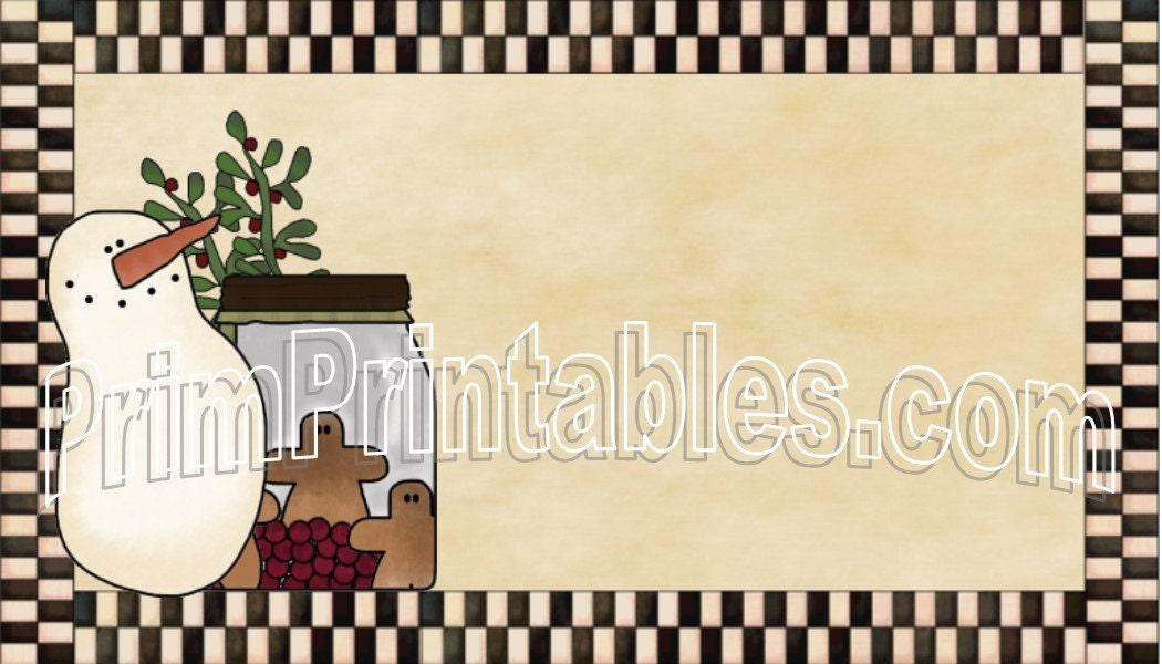 Prim Winter Customized Business Card Pdf and Jpeg File U print