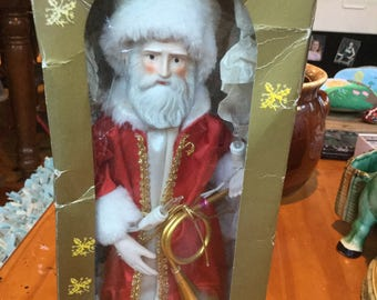Vintage Sears Santa Claus tree topper