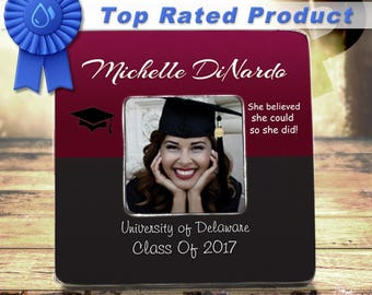 College Graduation Gift For Her Graduation Frame High School Graduation Gift For Graduate Class of 2017  She Believed She Could