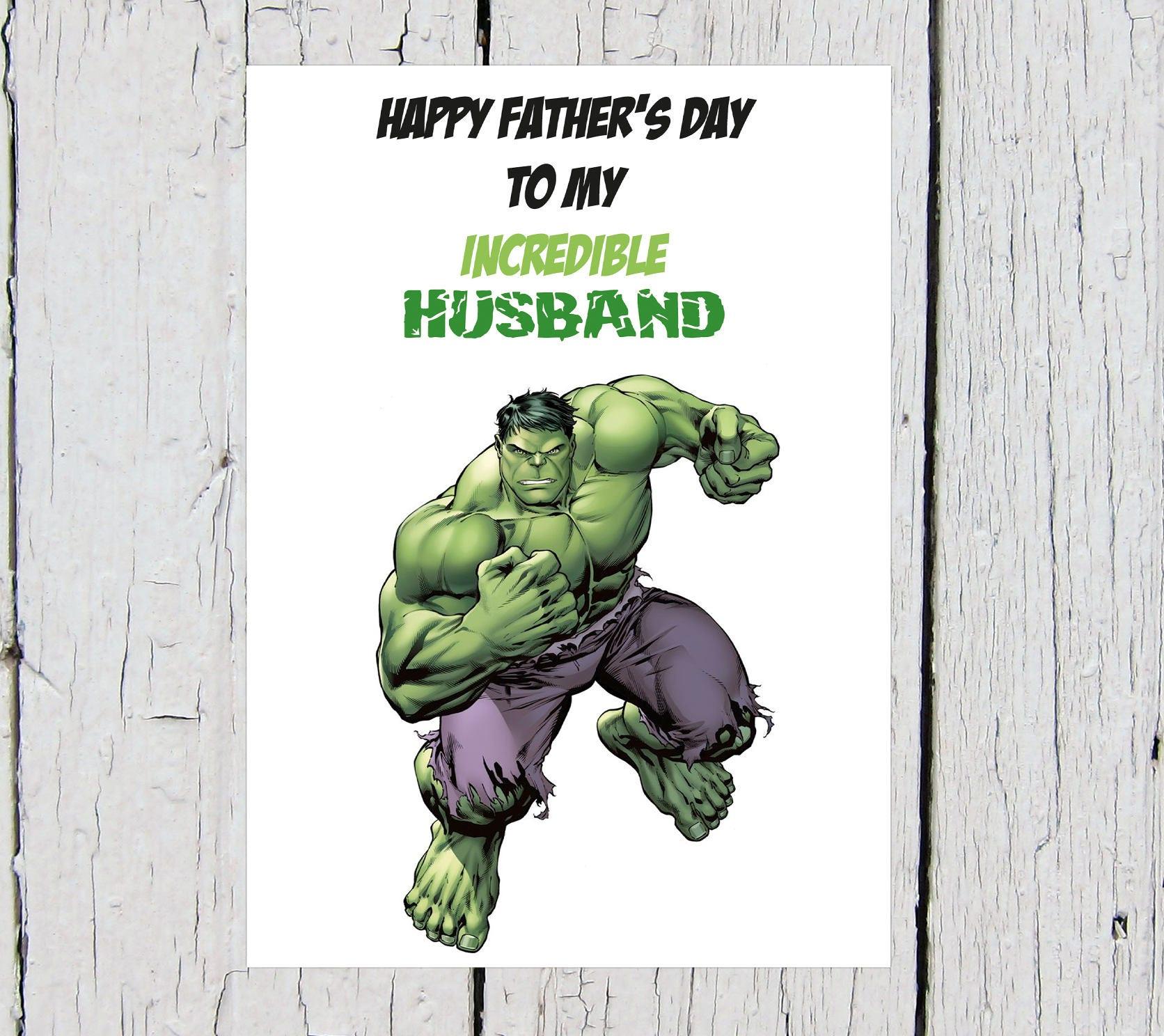 Free Comic Book Day Hulk Heroclix: The Incredible Hulk Father's Day Card Superhero Marvel