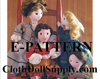 E-Pattern – Little Women Doll Sewing Pattern #EP 84