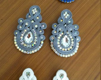 3 pairs of earrings soutache for party