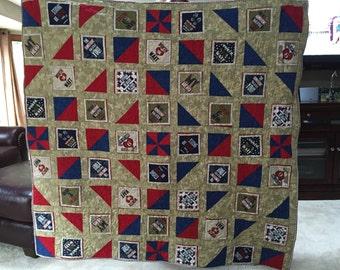 Military hero quilt
