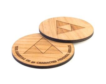 Zelda, Triforce inspired coaster