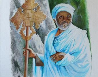 Ethiopian preacher - Original painting