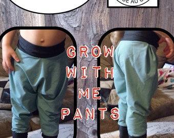 Evolutive, Harem and Growing Pants - grow with me pants - Maxaloones - Baby Leggings - Squishiloones - Pantalon evolutif