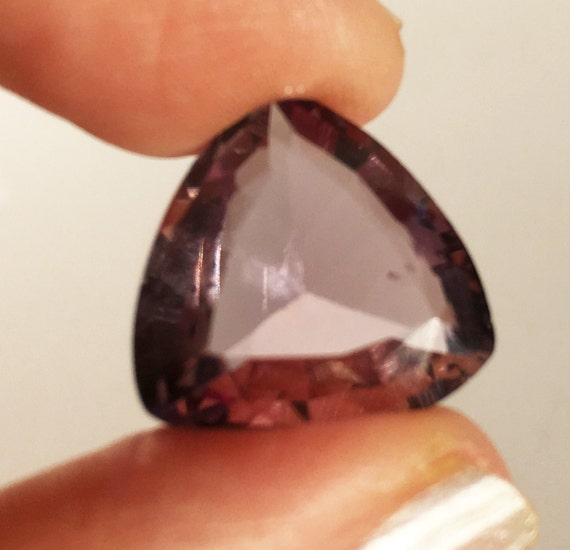 Amethyst Faceted Trillion Triangle Quartz 17 11 17 43x8