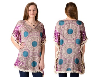Print Tunic - Purple Multi - 4486U