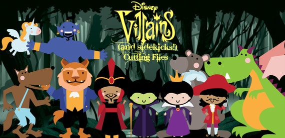 Villains and Sidekicks  - Cut Files for All Cutting Machines - Includes PDF, SVG, AI, E.P.S - Layered Images with Instructions