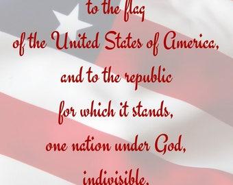 patriotic art, digital download, American flag art, American flag decor, flag decor, digital art, patriotic home decor, USA home decor