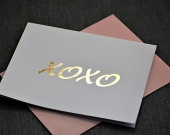 Anniversary Card, Card for Husband, Gold Foil Card