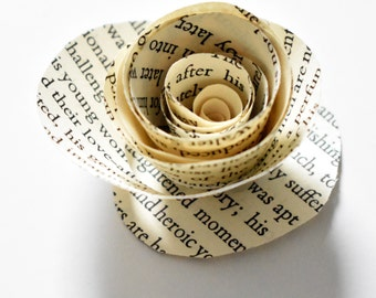Paper Flowers, Wedding Flowers, Book Page Roses, Literary Themed Wedding
