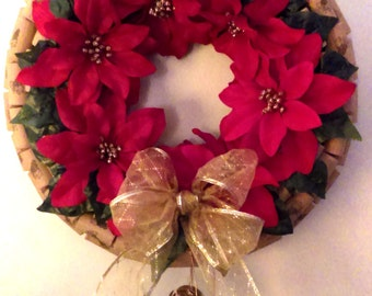 14 inch hand made wine cork Christmas wreath. Christmas gifts. Door decor. Christmas decorations.Wine lovers.Wine cork art.