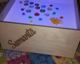 Personalized light table for child