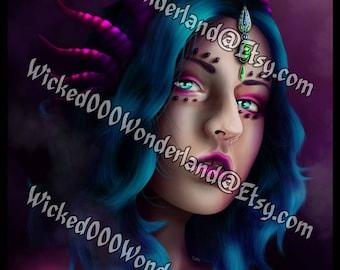 Chaos Dragon Portrait - ART PRINT