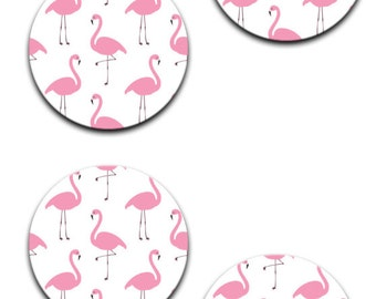 A pack of 4 of group of flamingos Pattern weights I deal for weighing down patterns on delicate fabrics no need for pins like TV sewing Bee
