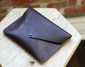Horween Leather Envelope Clutch - Burgundy CXL