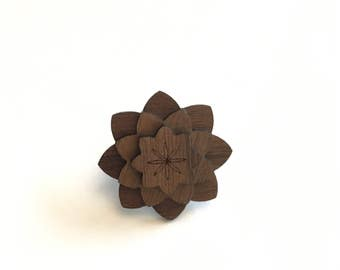 Walnut Kids Lapel Pin - Wood Lapel Pin