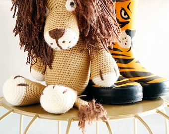 Leo the Lion, Crochet Lion, Stuffed Animal, Lion  amigurumi, Plush Animal