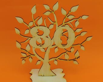 Present for the 80th Birthday, life tree in 1937