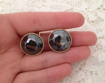 Clip on Earrings - Vintage - Earrings - Rustic Earrings - Elegant Earrings - Unusual Gift - Unique Jewelry - Jewellery -NorthEastVintageShop