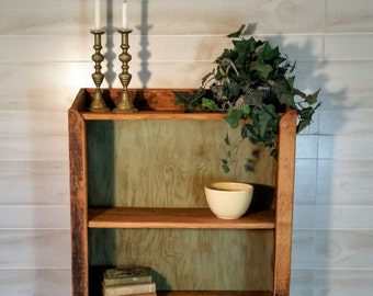 Furniture, Bookcase, Book Storage, Rustic Bookcase, Rough Sawn Oak Bookcase, Farmhouse Bookcase, Reclaimed Wood Bookcase
