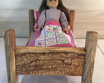 Doll, Toy, Bed, American Girl, Doll Bed, American Girl Bed, Wooden Doll Bed, Reclaimed Wood Doll Bed, Safe No  Voc Doll Bed