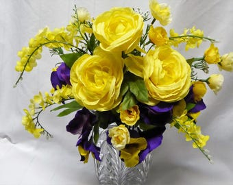 Mausoleum Silk Flower Arrangement