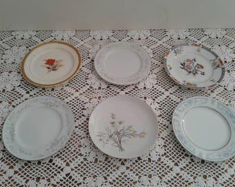 6 Mismatched Cake Plates