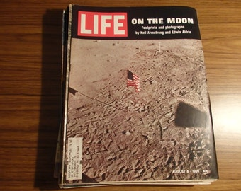 Life Magazine On The Moon August 8 ,1969