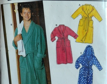Uncut 1990s burda Vintage Sewing Pattern 4835, Size 10, 12, 14 jr, 16 jr; Boys' Robe