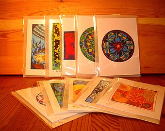 Gift set: 10 greeting cards (A6) with envelopes