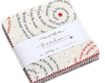 Freedom Treat Pack - Moda - Moda Precuts - Quilting Fabric - Sweetwater Fabric - Precut Fabric - Fabric - Moda Treat - Fabric Pack -5640MT