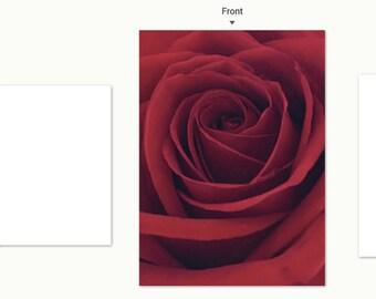 Red Rose notecard