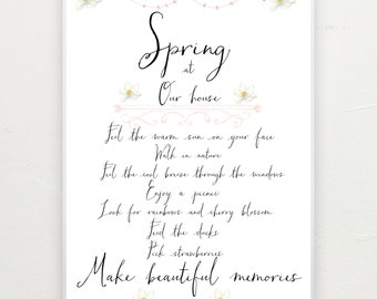 A4 Spring at our house - personalised print.