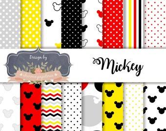 SALE Mickey digital paper pack