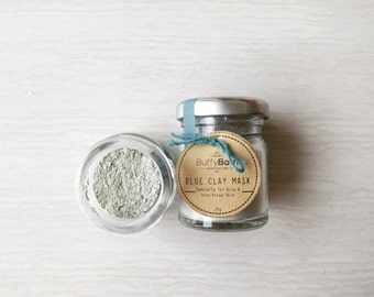 Blue Clay Mask – For Oily & Acne-Prone Skin, Face Mask, Clay Mask, Facial Mask, Detox Mask, Clarifying Mask