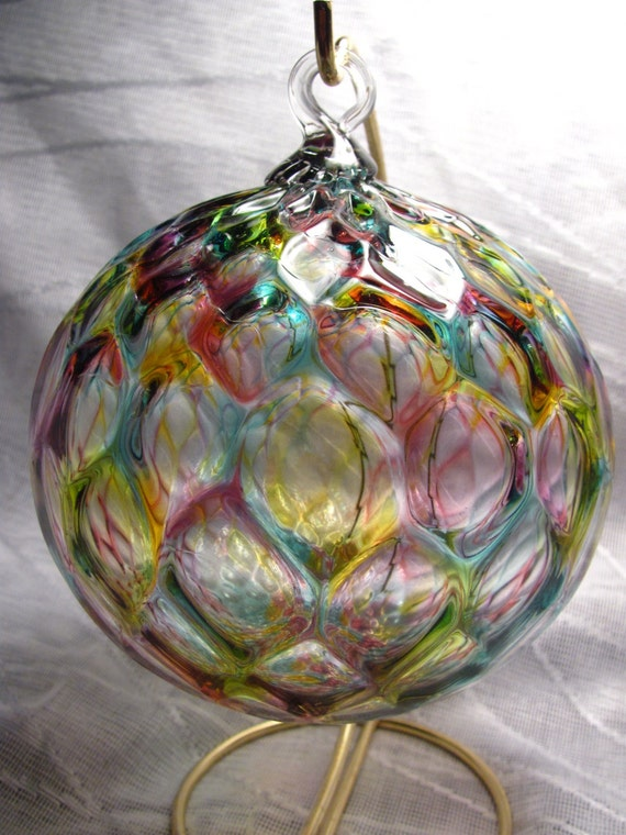 Hand blown glass ornaments beautiful rainbow by