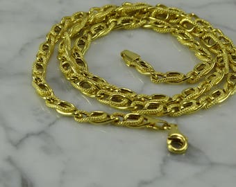 "14K Yellow Gold Necklace (Italy) (18"")"